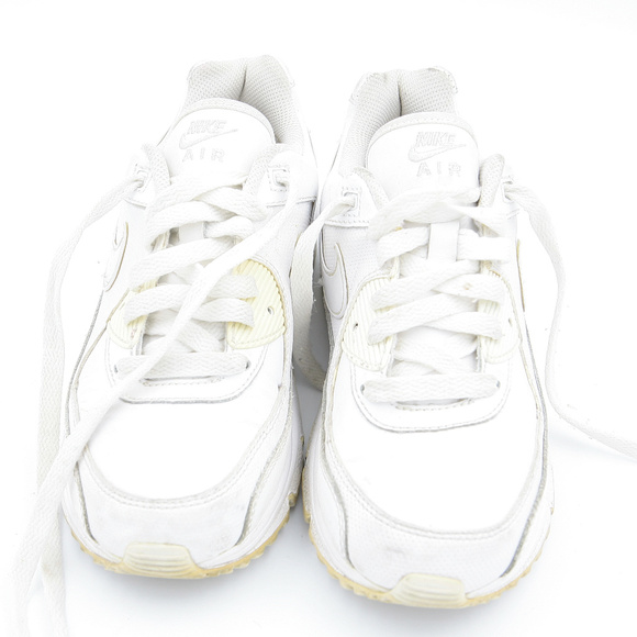 Nike Air Max 90 Youth Kids White Athletic Shoes